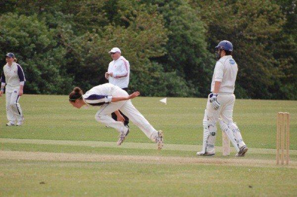 Vs Brighton & Hove 1/5/11 Deanna Cooper bowling