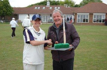 Vs Brighton & Hove 1/5/11 Laura Marsh being awarded MOM