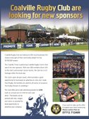 Coalville Rugby Club are Looking for New Sponsors