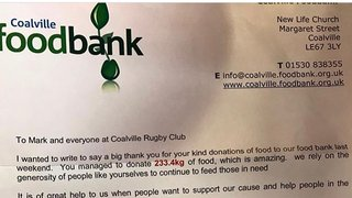 CRFC proudly supporting Coalville Foodbank