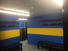 Volunteers give changing rooms to have a facelift