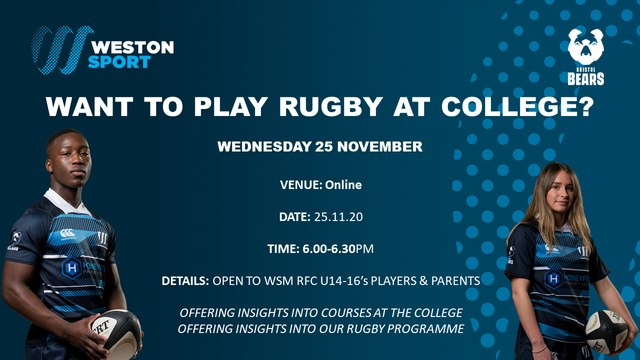 Want to play rugby at college?