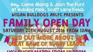 Wigan Bulldogs family open fun day