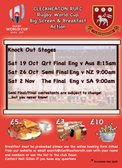 World Cup Breakfast OFF this Saturday (12th Oct)