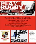 RUGBY RETURNS THIS SUNDAY FOR MINIS & JUNIORS