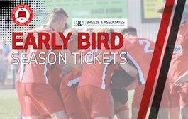 Early Bird Season Ticket Offer Open - Now!