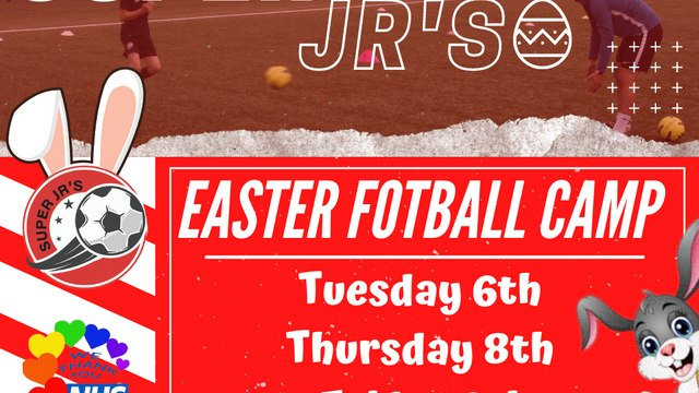 Super Jrs Easter camp is now taking bookings