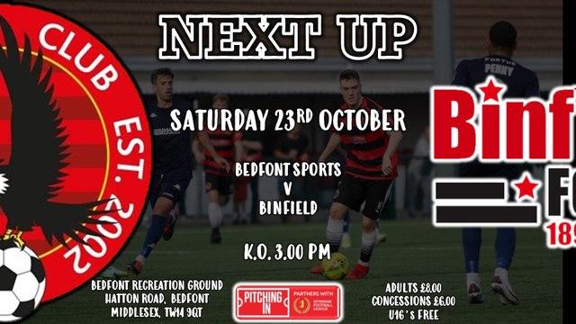 Next Up is Binfield