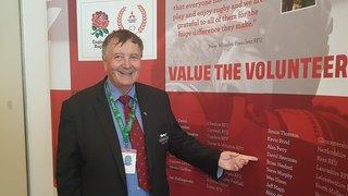 Brian Hesford receives RFU award at Twickenham