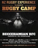 "Beccs host ""NZ Rugby Experience"" Summer Camp - 19-23 August 2019"