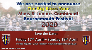 The Big Beccs combined Mini & Junior Tour 2020 - registration & deposit by 30th September 2019
