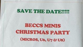 Beccs Minis Christmas Party (Micros, U6, U7, U8)
