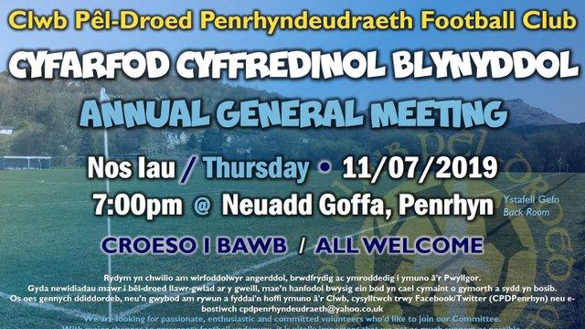 CYFARFOD BLYNYDDOL / A.G.M.