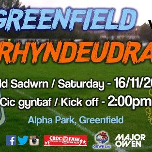 Greenfield 1-0 CPD Penrhyndeudraeth