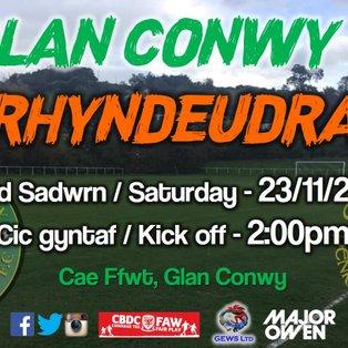Glan Conwy 3-2 CPD Penrhyndeudraeth
