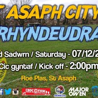 St Asaph City 1-0 CPD Penrhyndeudraeth