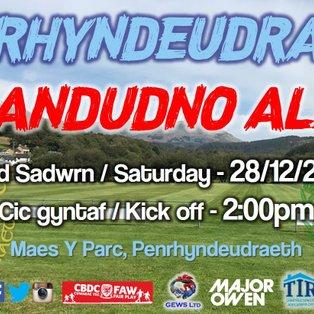 CPD Penrhyndeudraeth 1-0 Llandudno Albion