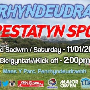 CPD Penrhyndeudraeth 4-3 Prestatyn Sports