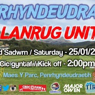 CPD Penrhyndeudraeth 3-3 Llanrug United