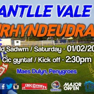 Nantlle Vale 2-3 CPD Penrhyndeudraeth