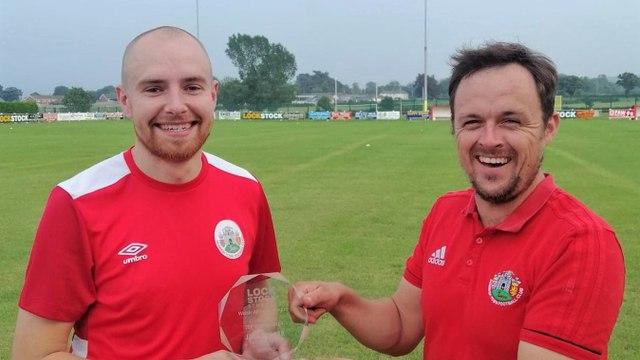 Jake receives his top scorer award