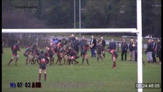 Ellio Nightingale try Vs Worcester Wanderers