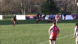 Phil Dickinson try Vs Barnstaple RFC
