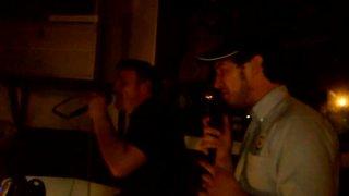 Father and son kareoke at the Royal Oak Stockingford - Daz and Dan Joyce