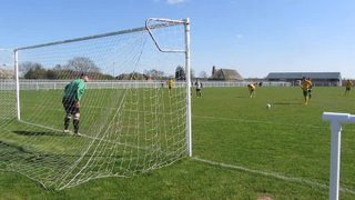 Jordan Thomas penalty against Welbeck Welfare