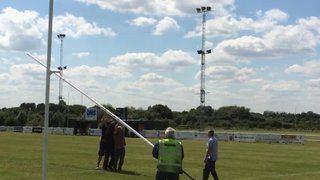 Up go the posts at Coalville RFC