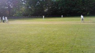Jack Thwaites giving catching practice