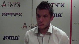 HTFC vs Barkingside post-match interview (Alex Read)