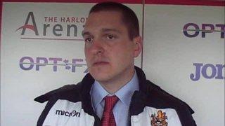 HTFC vs Bath City post-match interview