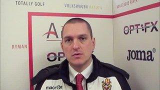 HTFC vs Brightlingsea Regent post-match interview