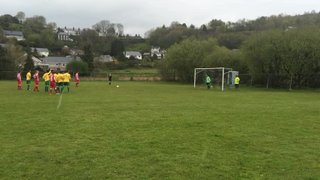 Penrhyndeudraeth 0-2 Holywell Town - Tom McElmeel scores Town's first goal from the Penalty Spot.