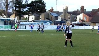 Action from Lowestoft Town v Acle United Ladies