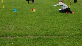Under 13's goalkeeper Ashley training