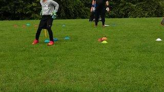 Goalkeeper training with Darren