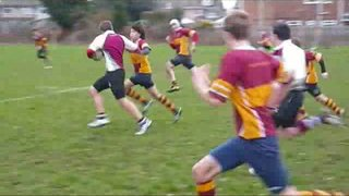 U15s A v Brentwood A - Alex's try saver tackle
