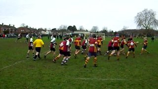 U15s v Brentwood A - Adam drives into touch