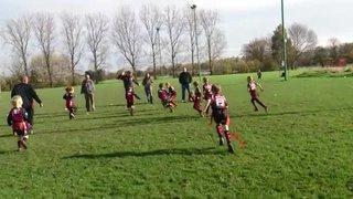 Under 8s V Ashton on Mersey - team work!