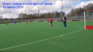 Robin Codina scores against Leeds