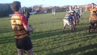 Thornton-Cleveleys 1st XV lineout won by Jamie Kilgour