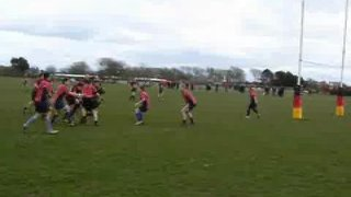 Adam Lester scores a try for Thornton Cleveleys 2nds vs Garstang 3rds