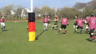 Dave Boyd scores for Thornton-Cleveleys 2nds against Blackpool 2nds