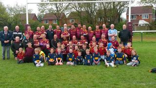 President's Day v Cannock, 9_5_15, vets & u7/8s team picture