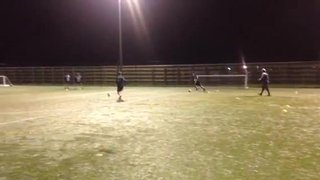 Youth side practicing ball retention