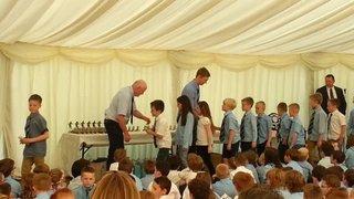 Under 8's trophy presentation 2015