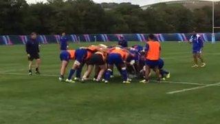 13/09/2015 Brighton Outcasts Sam Howse nailing Samoan international Alessandro Tuilagi with a perfect tackle