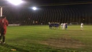 Staffs goal against Raynes park vale